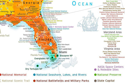 florida kids map