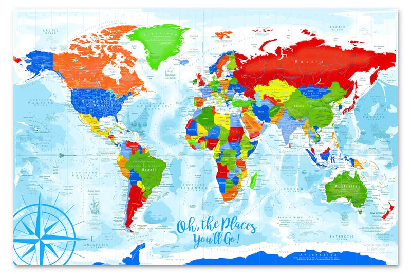 rainbow world map for kids