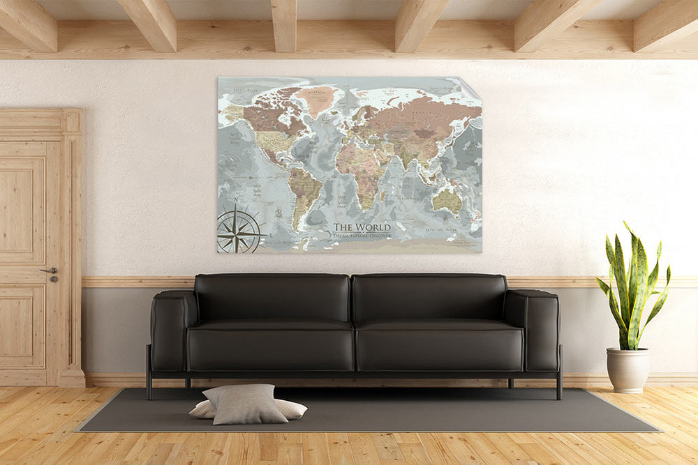wall map of the world