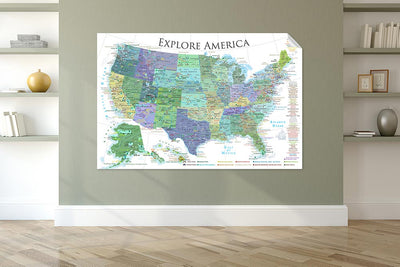 united states map on wall