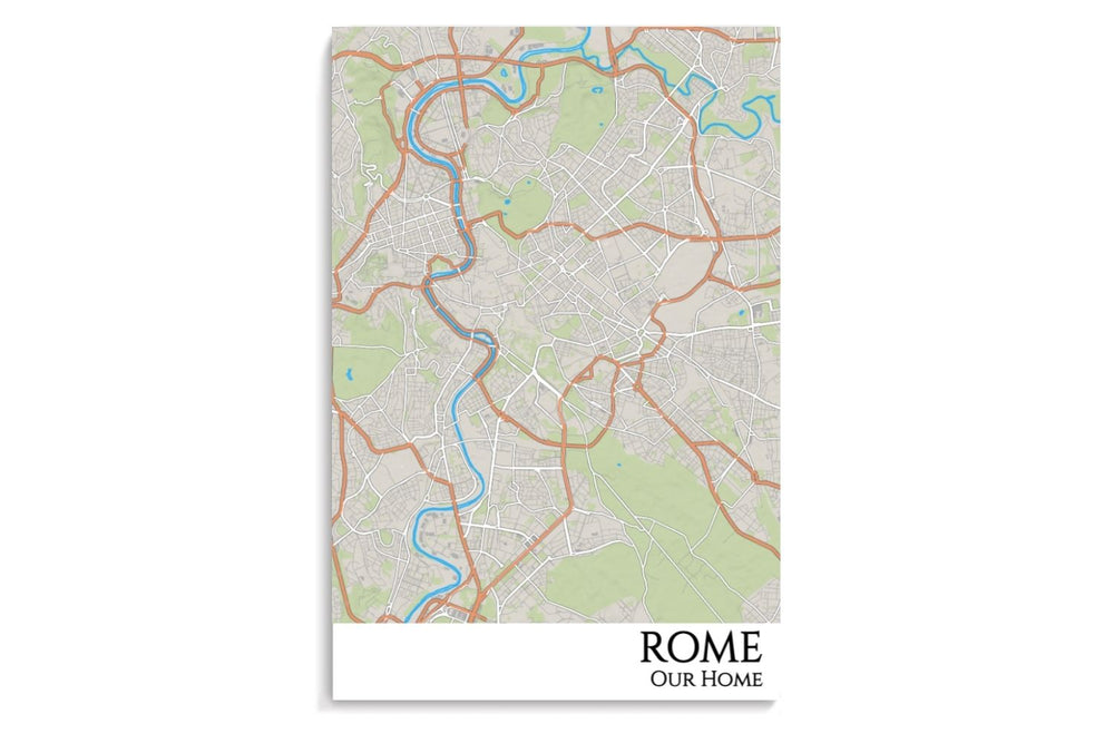 map of custom rome