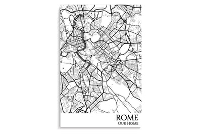 rome city map art print