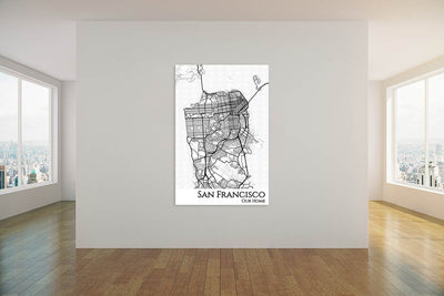 san francisco city map decor