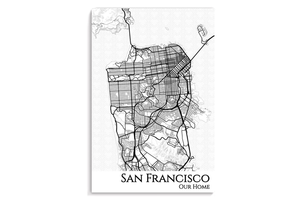 san francisco city map poster