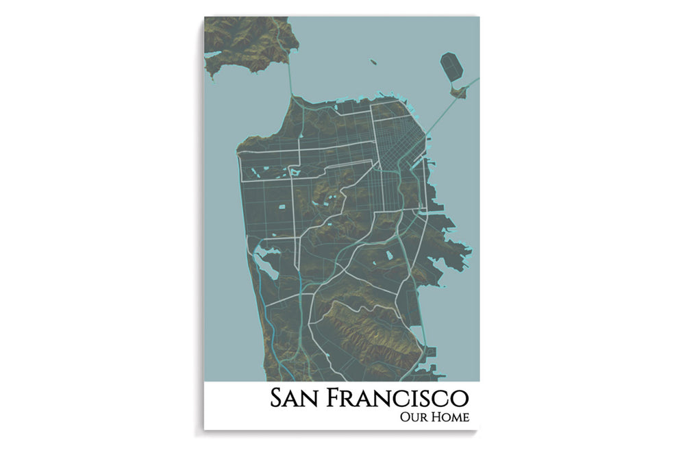 san francisco hanging poster