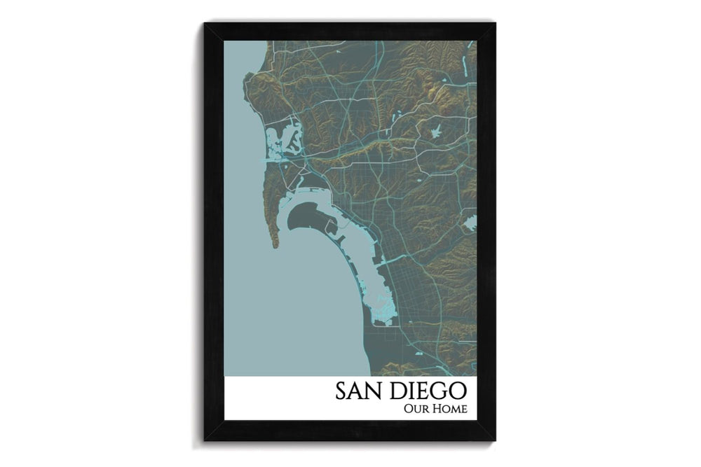 custom city map of san diego