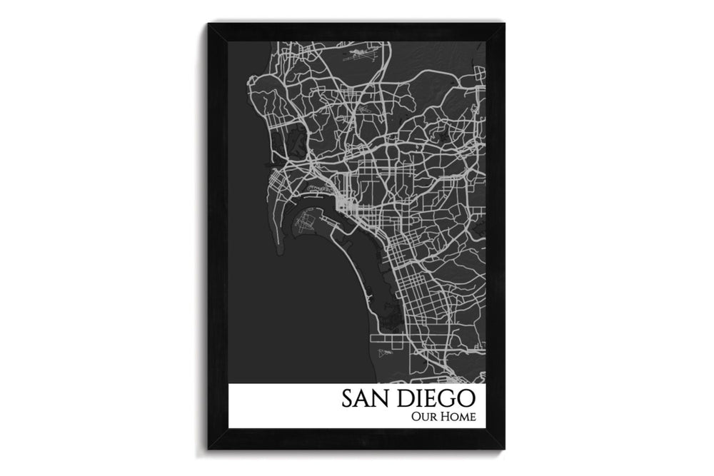 san diego city map art