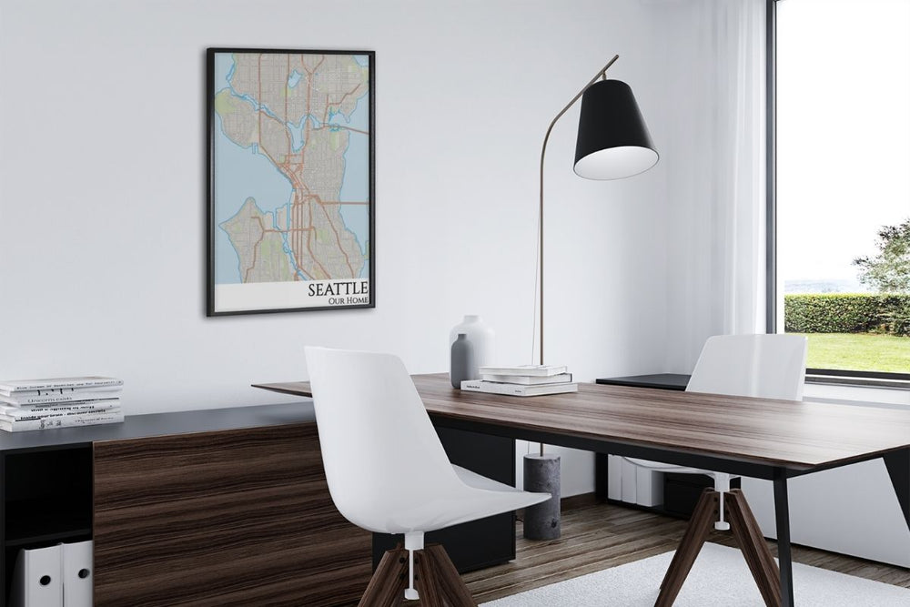seattle city map office decor