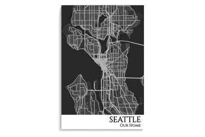 seattle city map poster