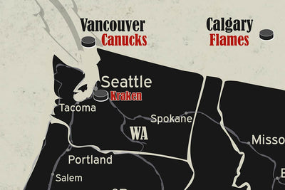 seattle kracken nhl map