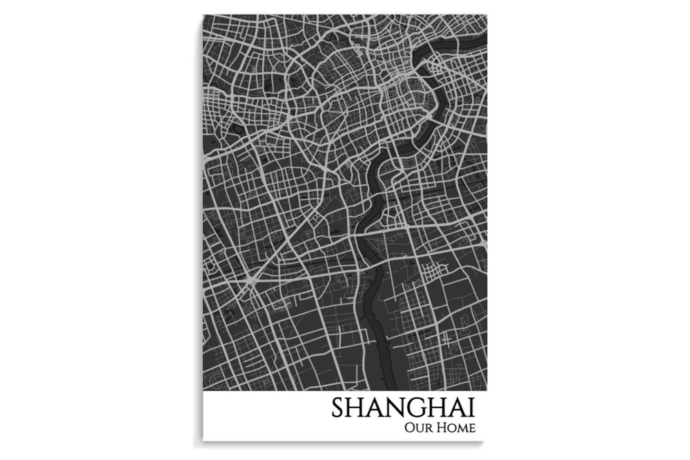 Shanghai City Map Poster