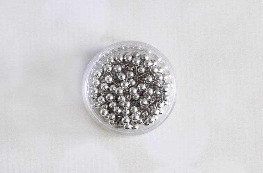Silver Map Push Pins