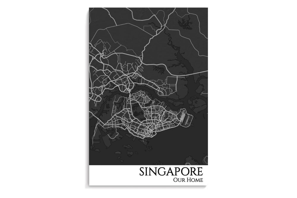 singapore city map poster
