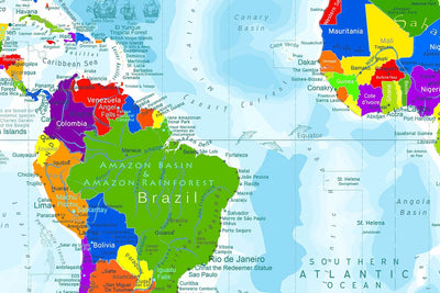south america world map