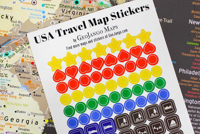stickers for usa map