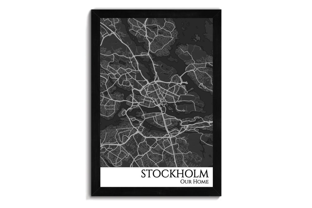 stockholm city map art