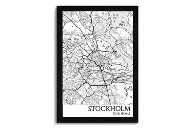 custom city map of stockholm