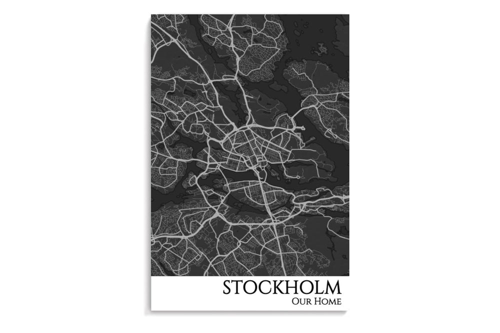 stockholm city map poster