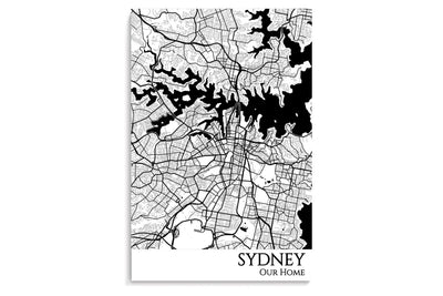 sydney city map art print
