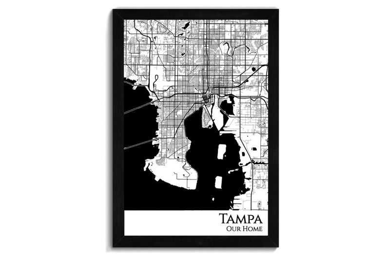 Tampa Push Pin City Map