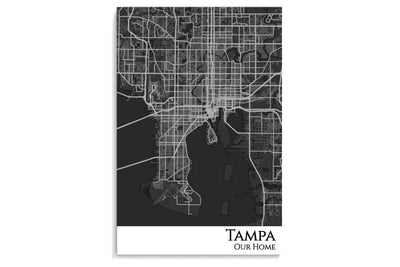 tampa city map poster