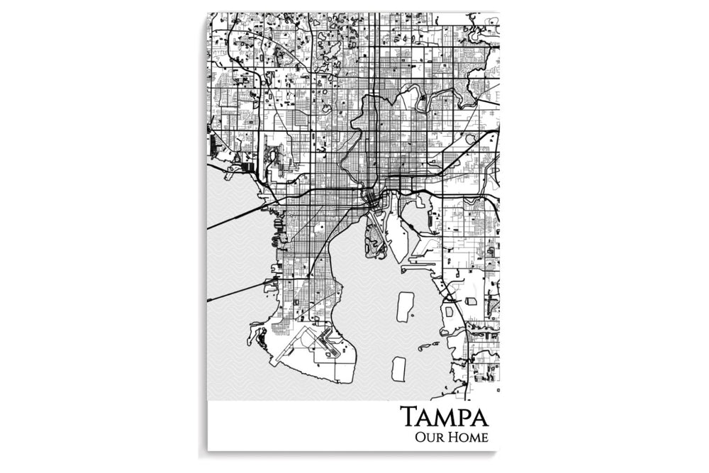 poster map of tampa