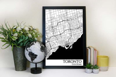 toronto street map wall art
