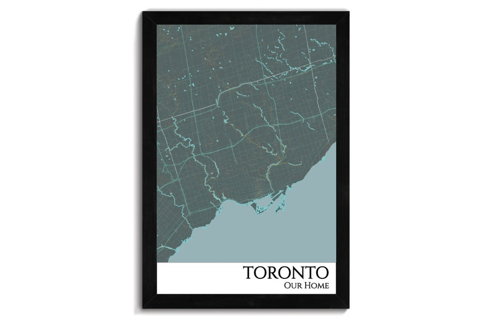 Toronto Push Pin City Map