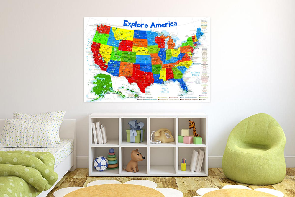 us map for kids room