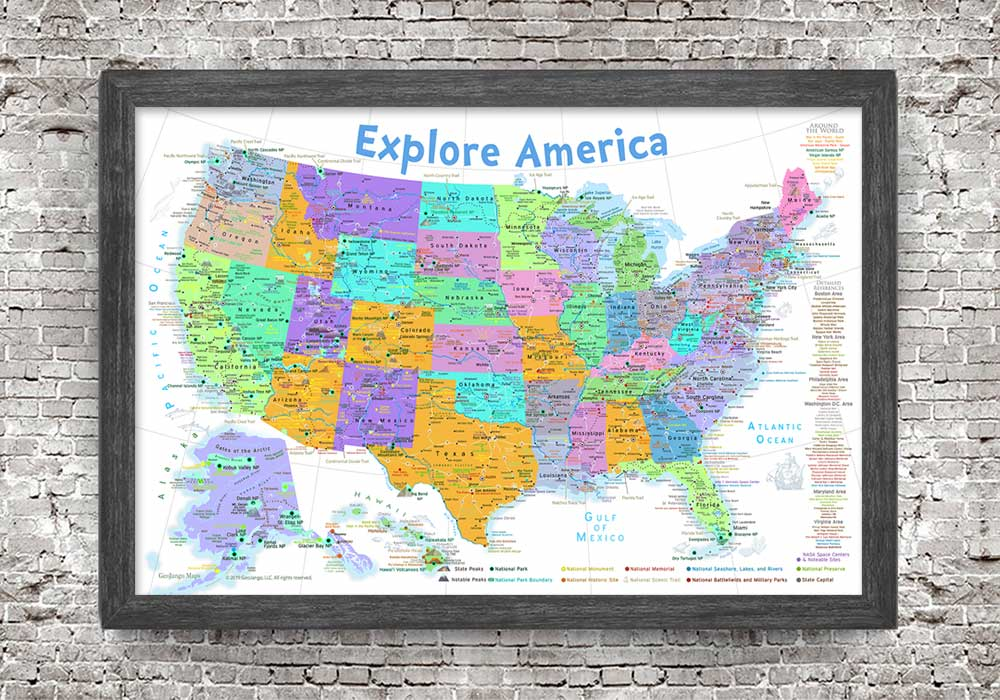 kids map usa