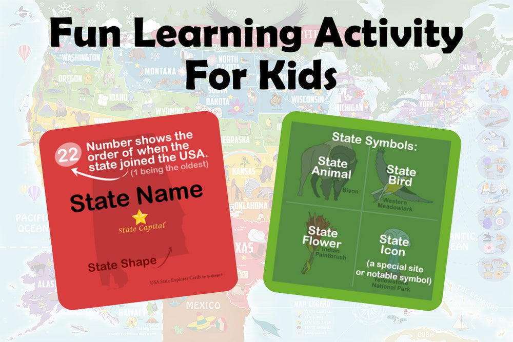 usa trivia cards for kids