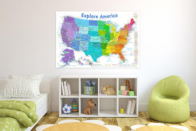 usa map for kids room