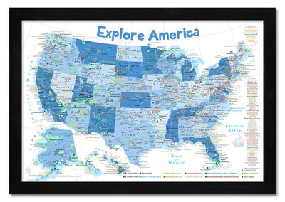 usa map for kids