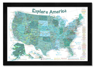 usa maps for kids