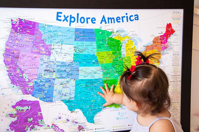 usa rainbow kids map