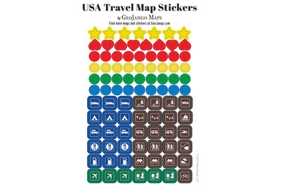 usa travel stickers