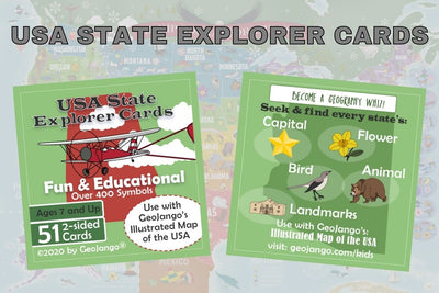usa state explorer cards