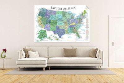 usa wall map