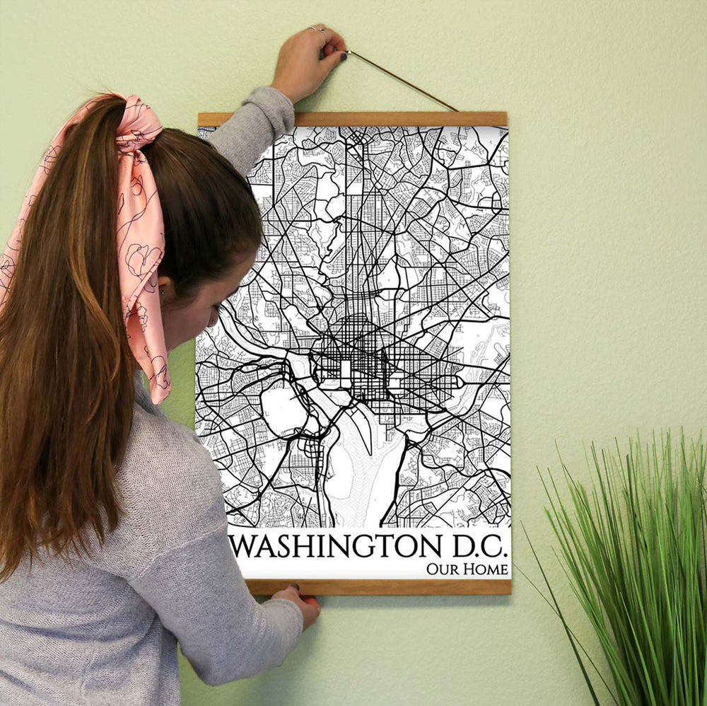 washington dc city street map print