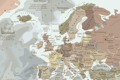 world travel map europe detail