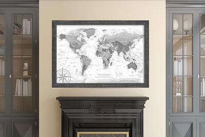 world map home decor