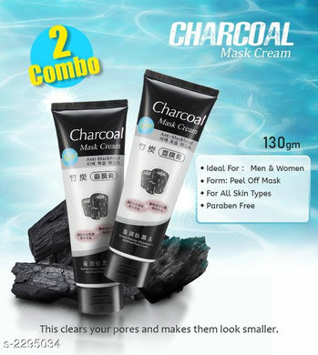 Charcoal Face Mask Anti Blackhead (Pack of 2 )