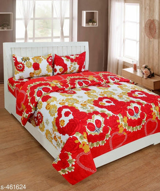 Cotton painted double bedsheet