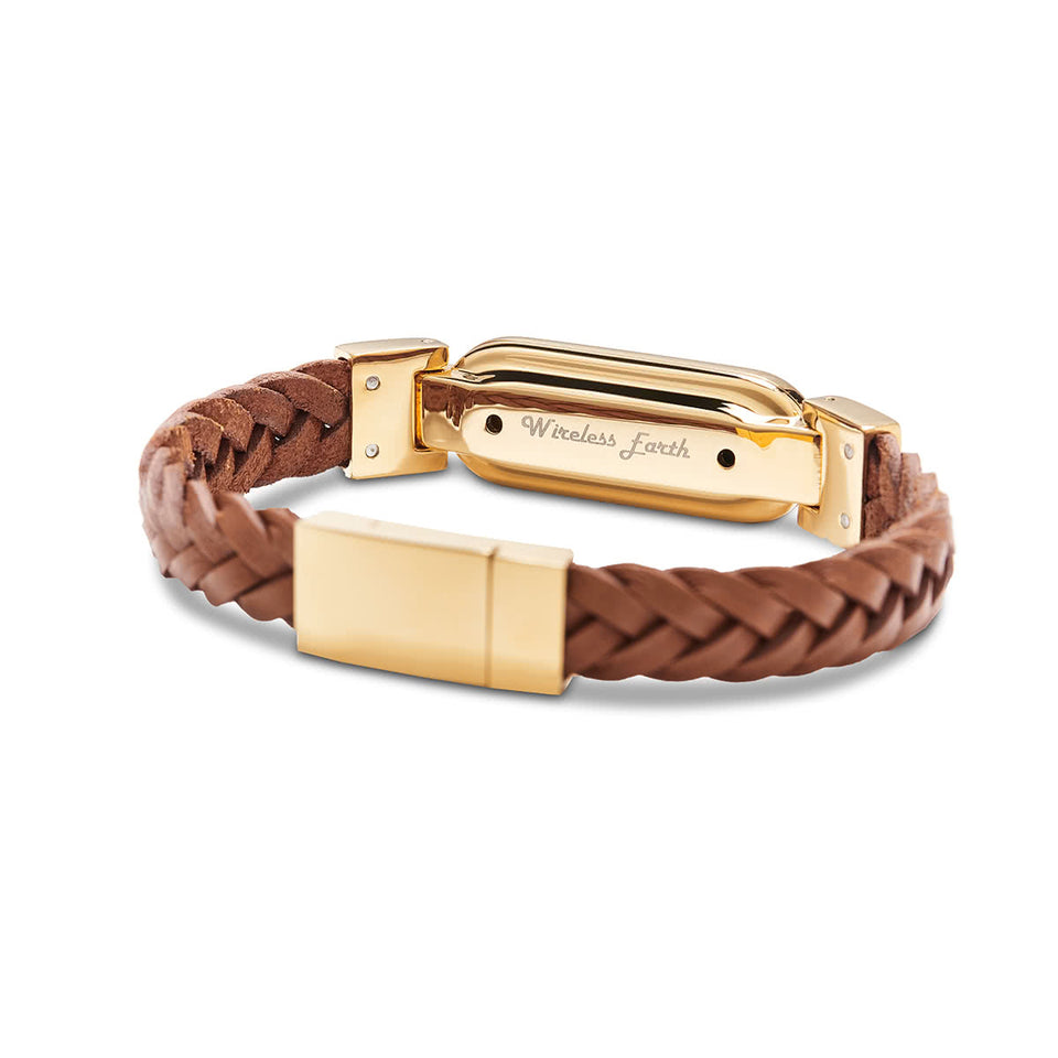 Wireless Earth Bracelet - Braided Foax Leather - Premium Edition - Wireless Earth Online Shop