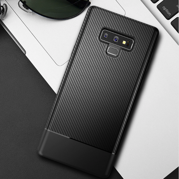 Galaxy Note 9 Carbon Fibre Silicone Case