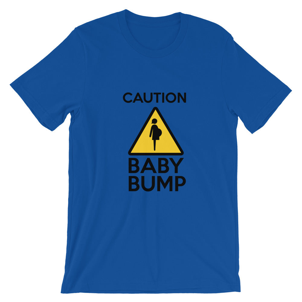 Caution Baby Bump t shirt Cute Dog Baby Announcement 2020