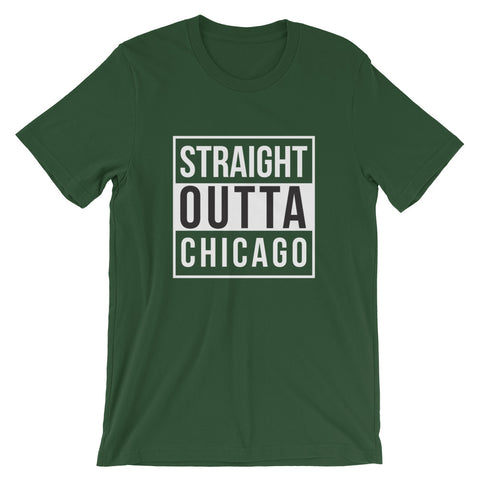 Straight Outta Chicago Short-Sleeve Unisex T-Shirt