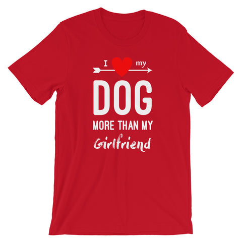 Image of Dog Lover 2020 T shirt - I love my Dog more than my Girl Friend