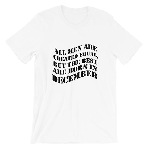 Born in December Gifts - Born In December Short Sleeve Unisex T-Shirt