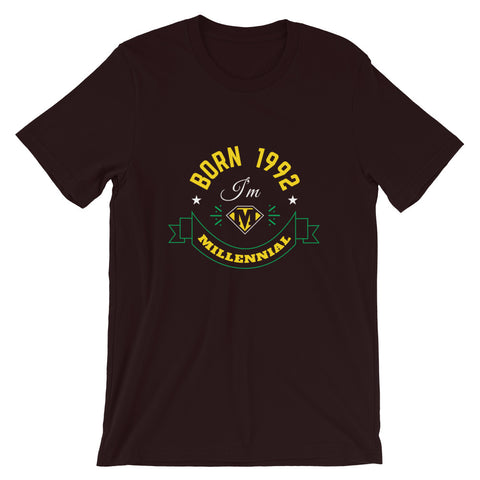 Born in 1992 Short-Sleeve Unisex T-Shirt